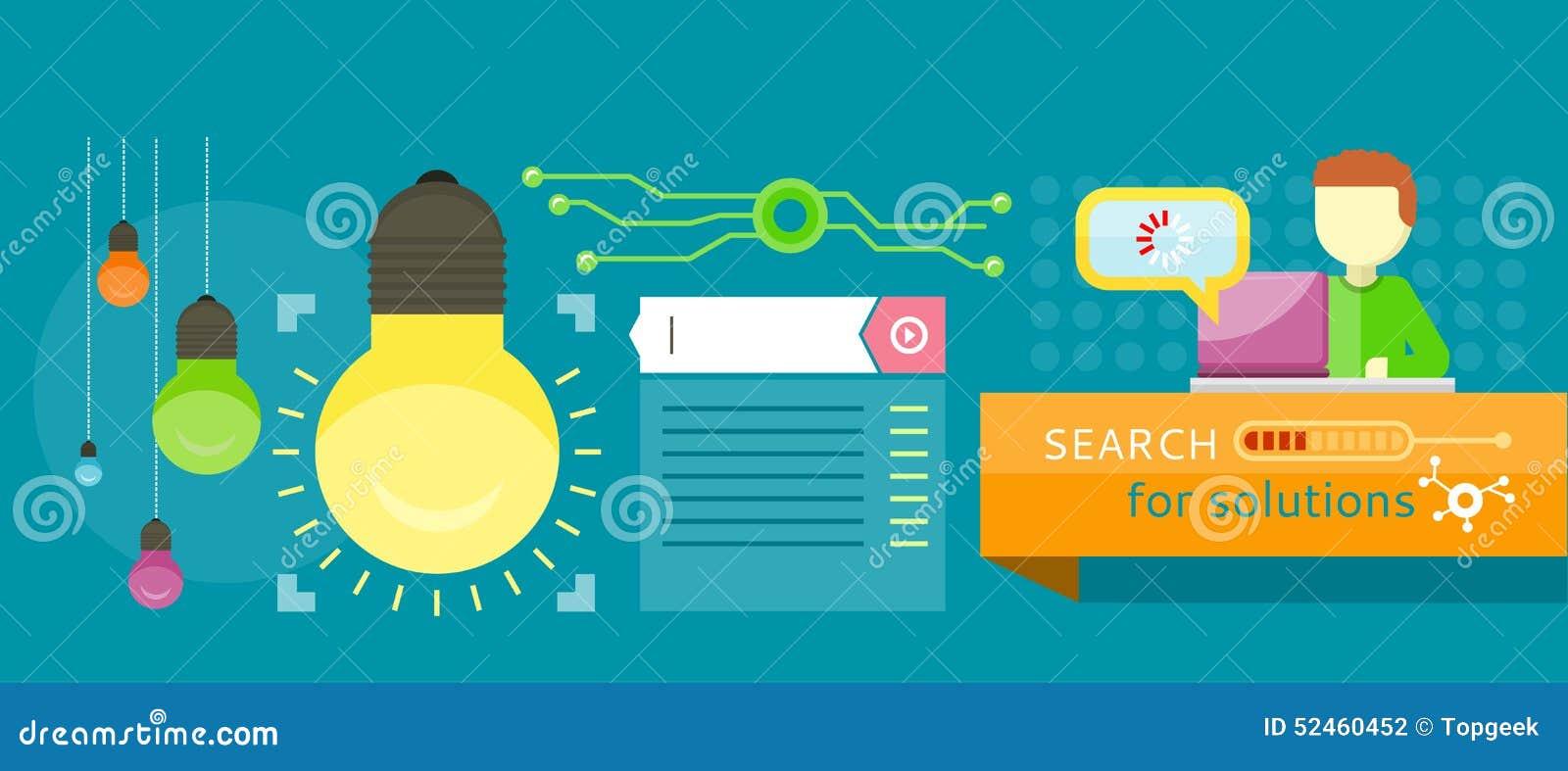 Zoek naar oplossingeninfographics