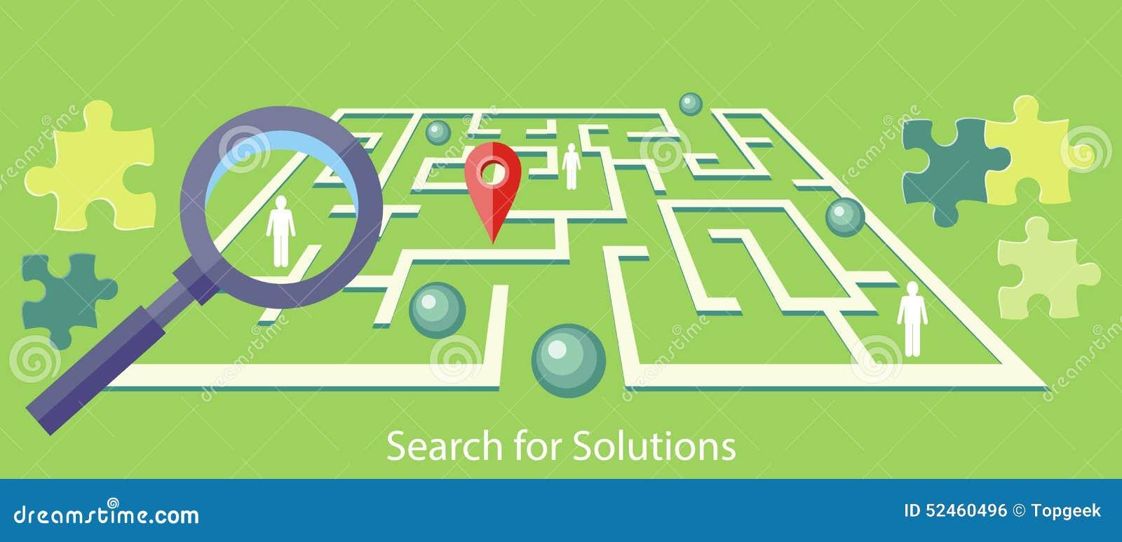 Zoek naar Oplossingslabyrint