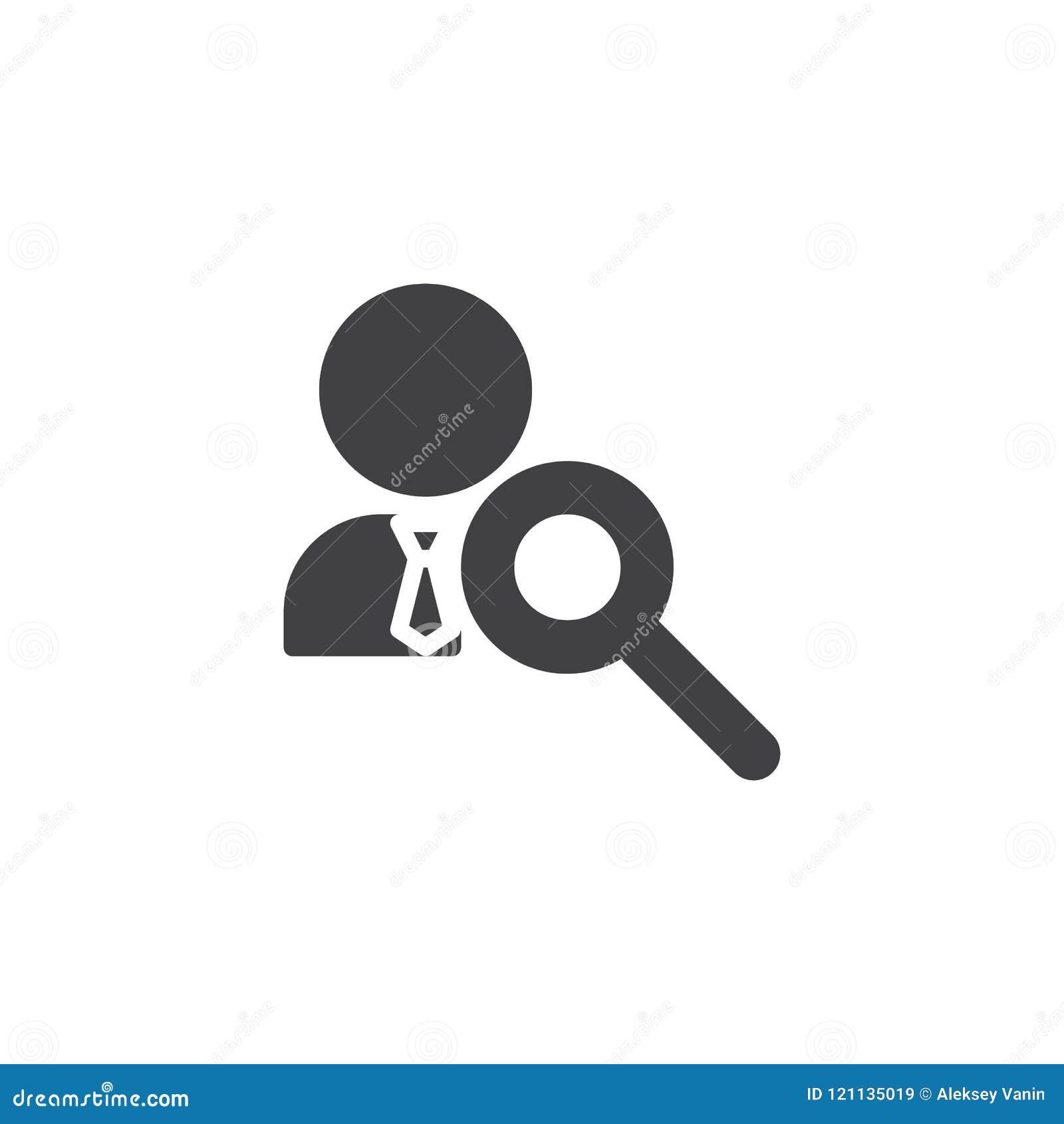 Zoek naar werknemers vectorpictogram