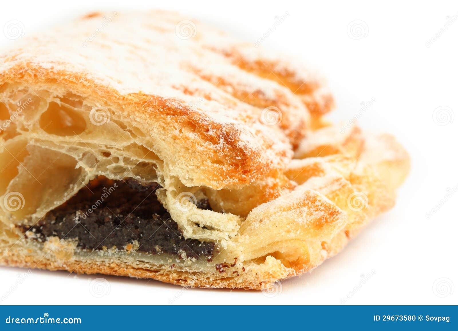 Zoet die broodje met papaverzaad wordt gevuld