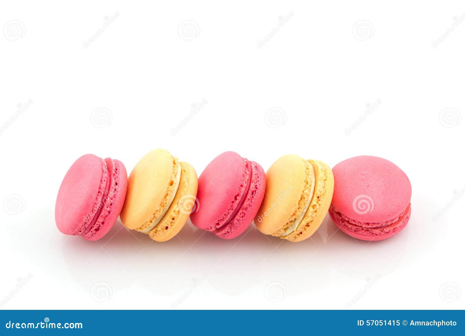 Zoete en kleurrijke Franse macaron