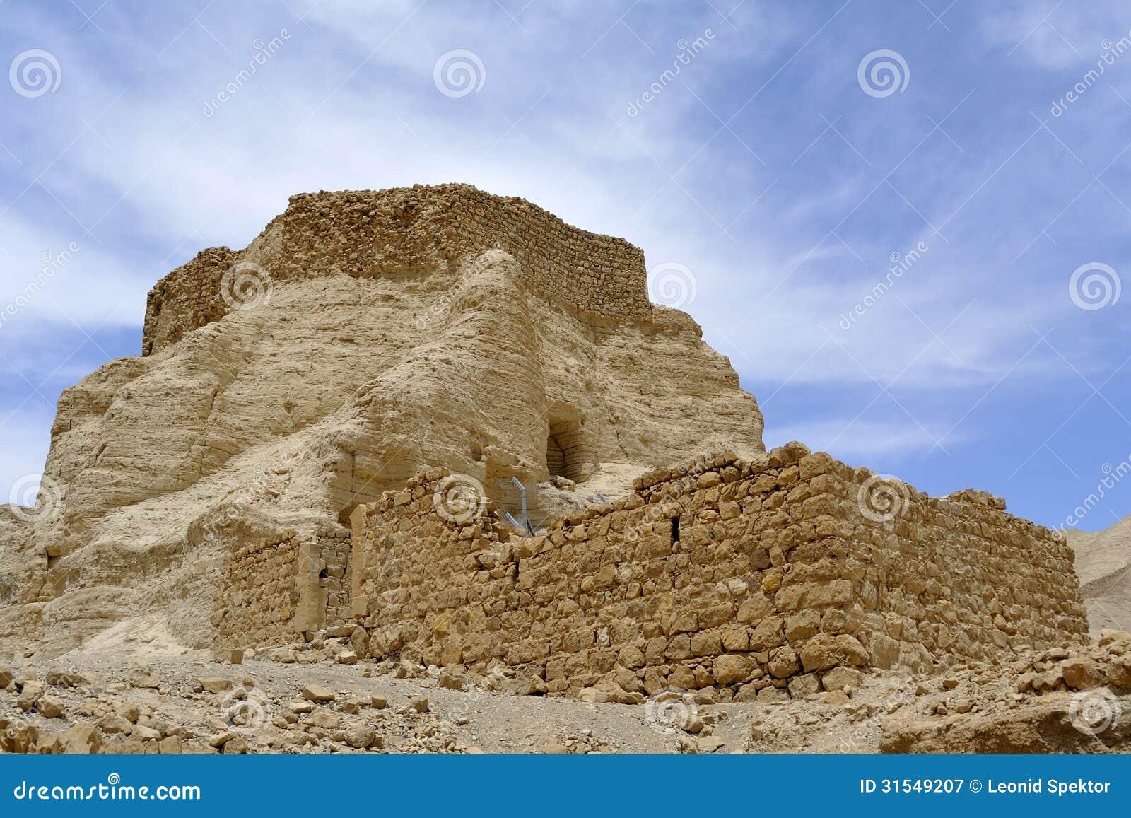 Zohar堡垒在犹太沙漠。
