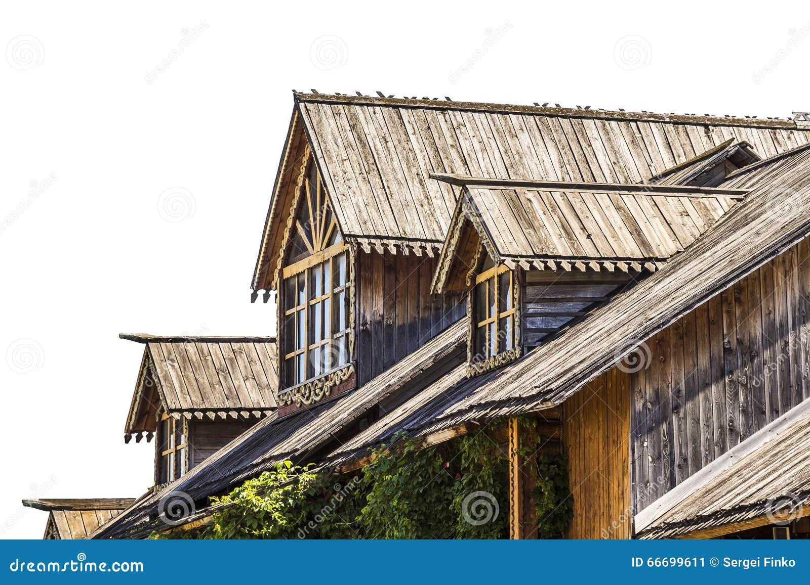 Zoldervenster van een blokhuis
