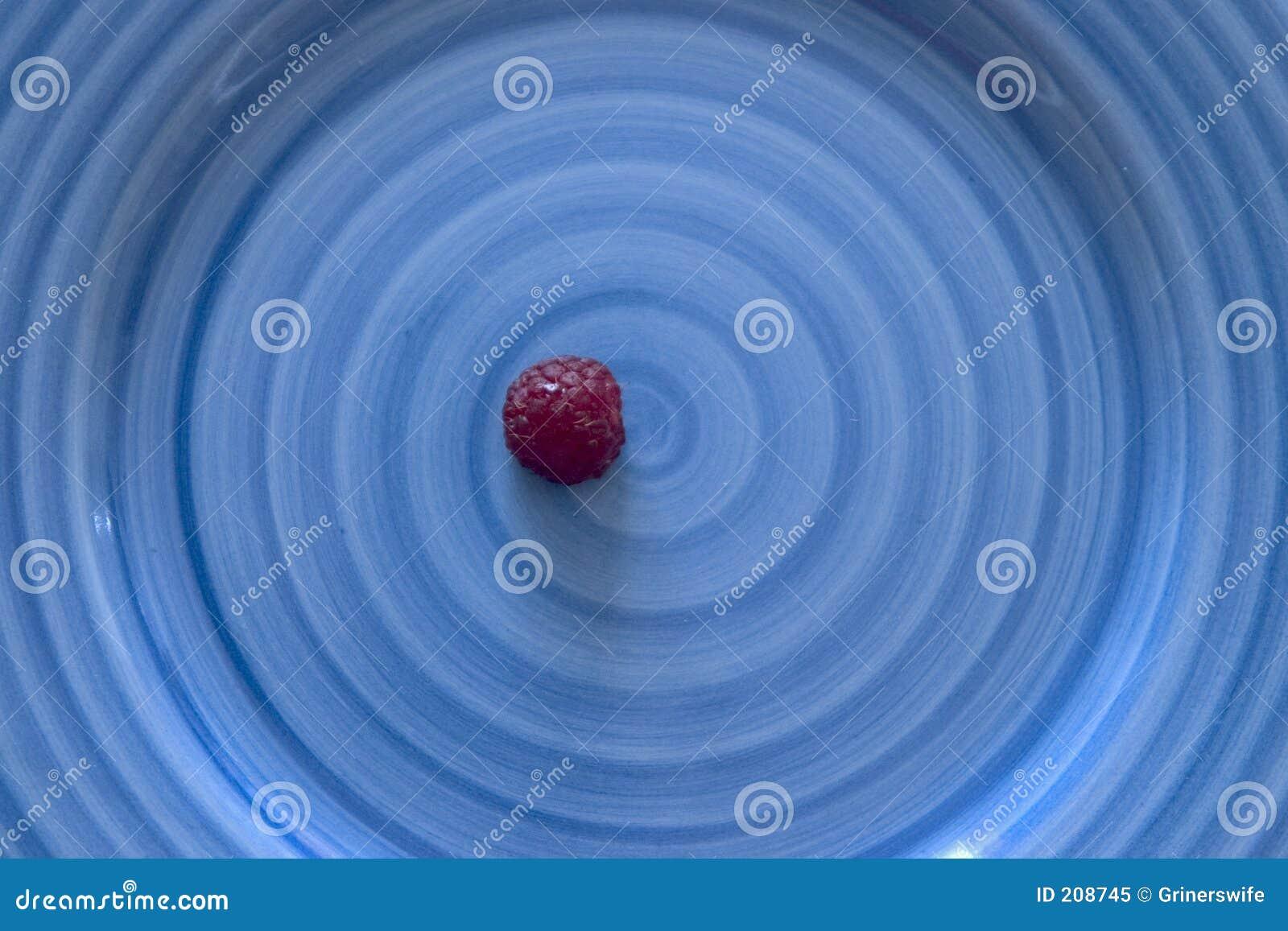 Zolla dell azzurro del lampone rosso