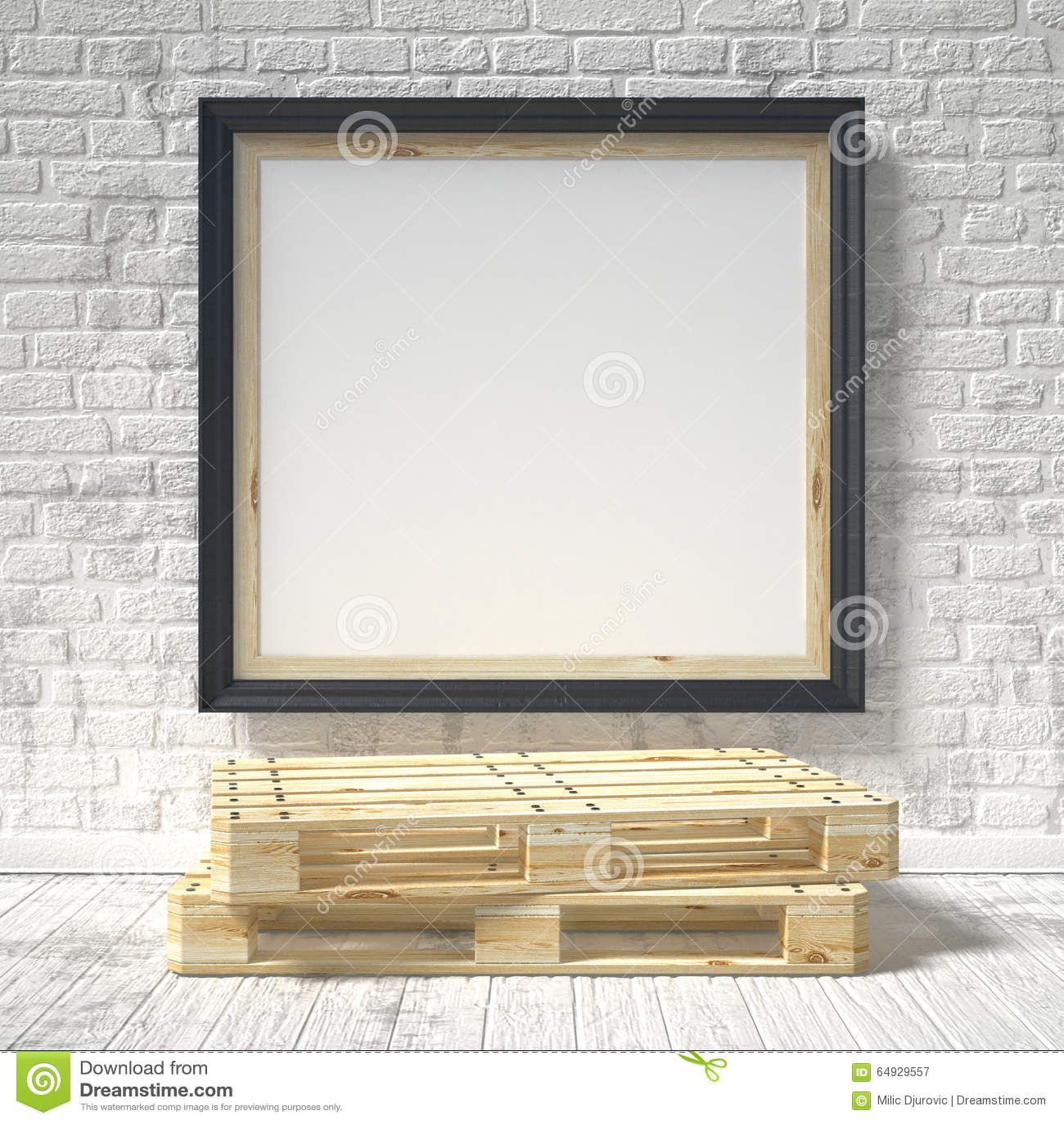 Zombaria acima do cartaz com pálete de madeira 3d