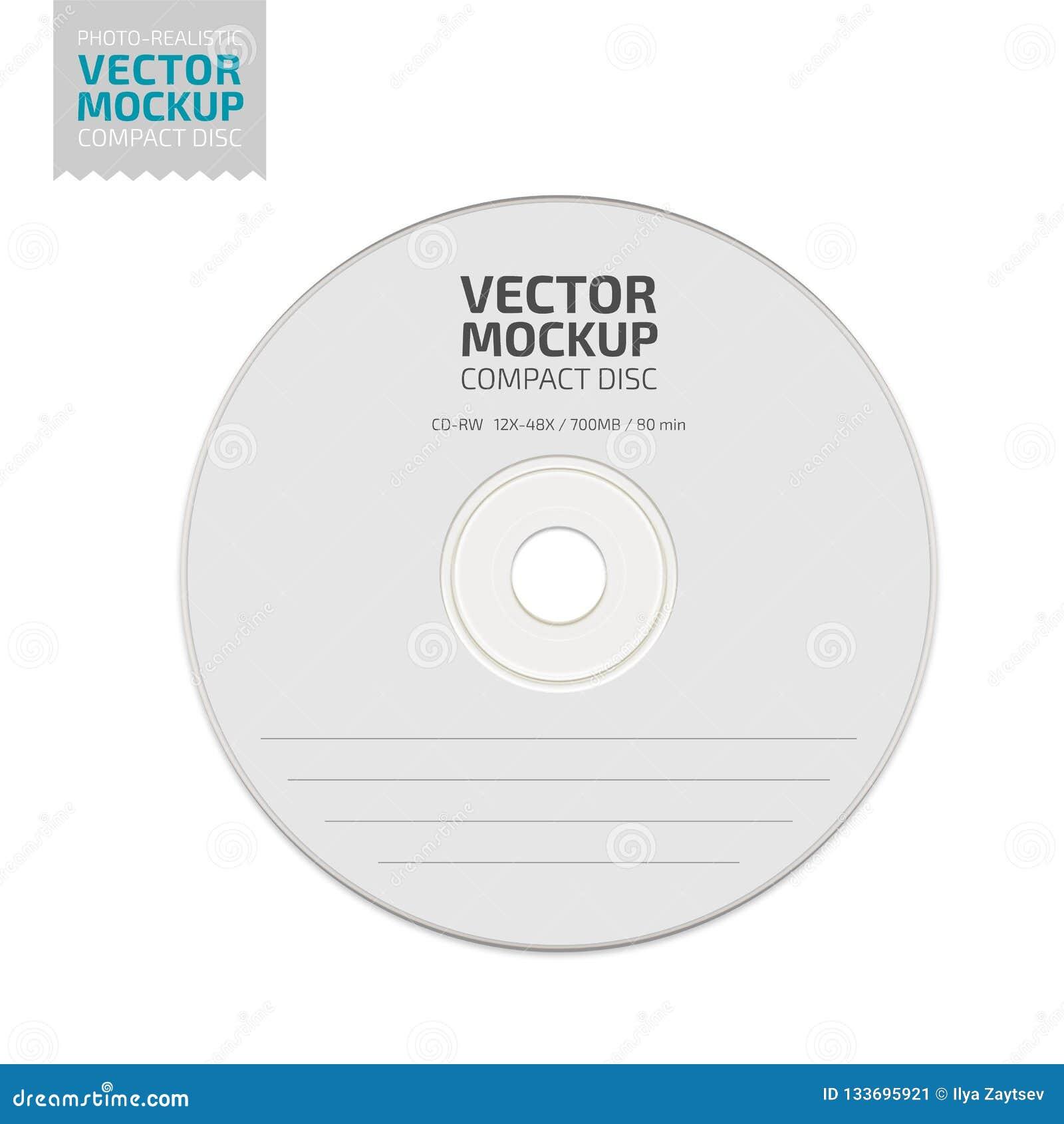 Zombaria Branca Do Compact Disc Da Placa Acima Do Vetor