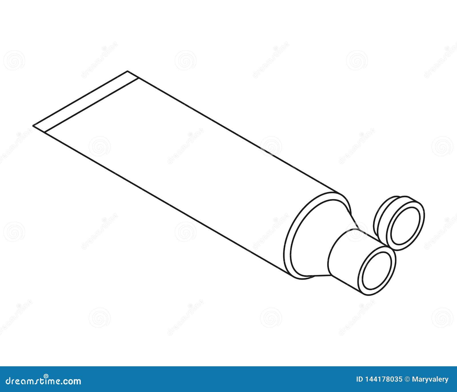 Zombaria branca isom?trica do molde do tubo de creme acima Estilo dos desenhos animados da ilustra??o do vetor