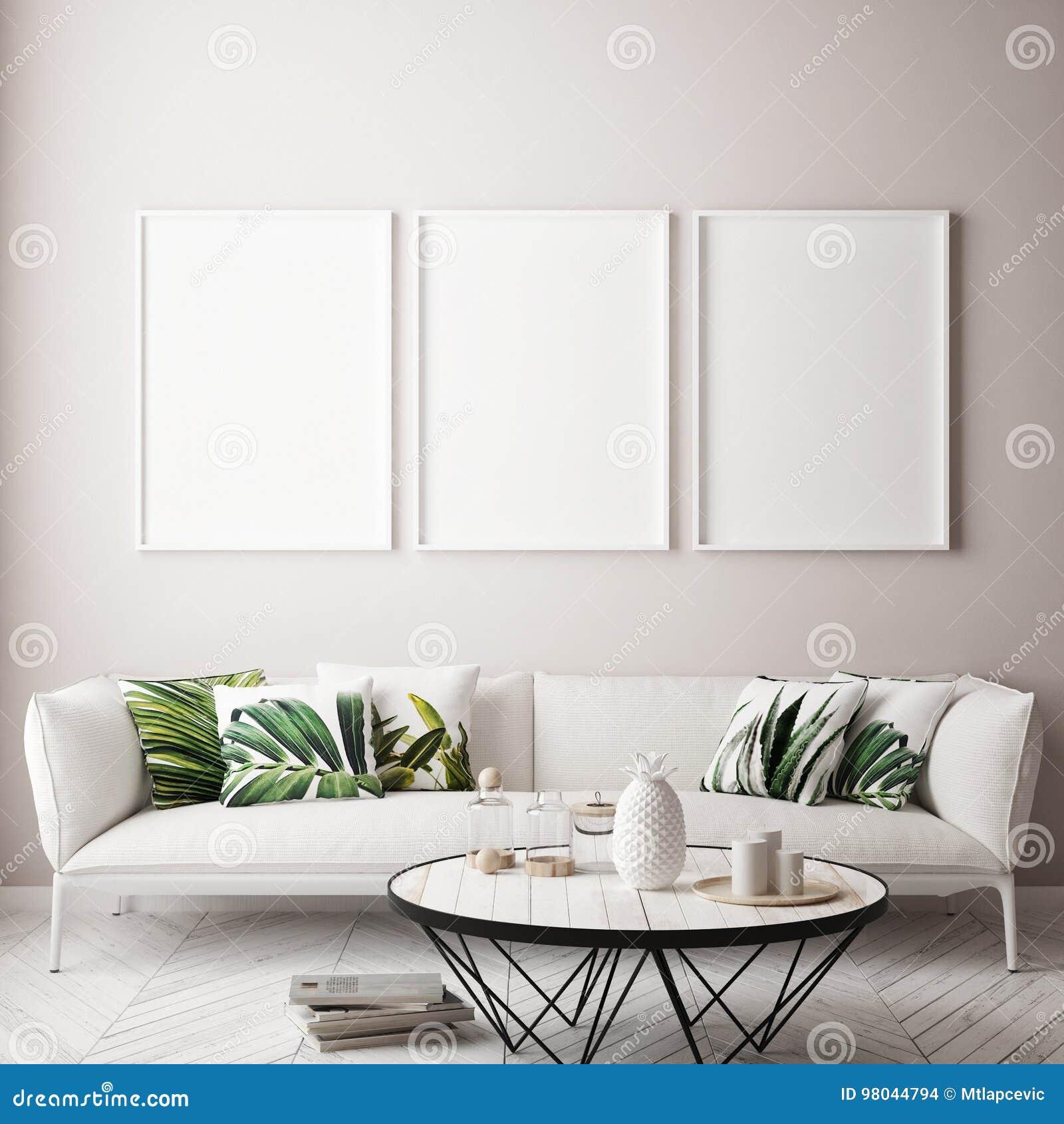 Zombe acima do quadro do cartaz no fundo interior tropical, estilo das caraíbas moderno