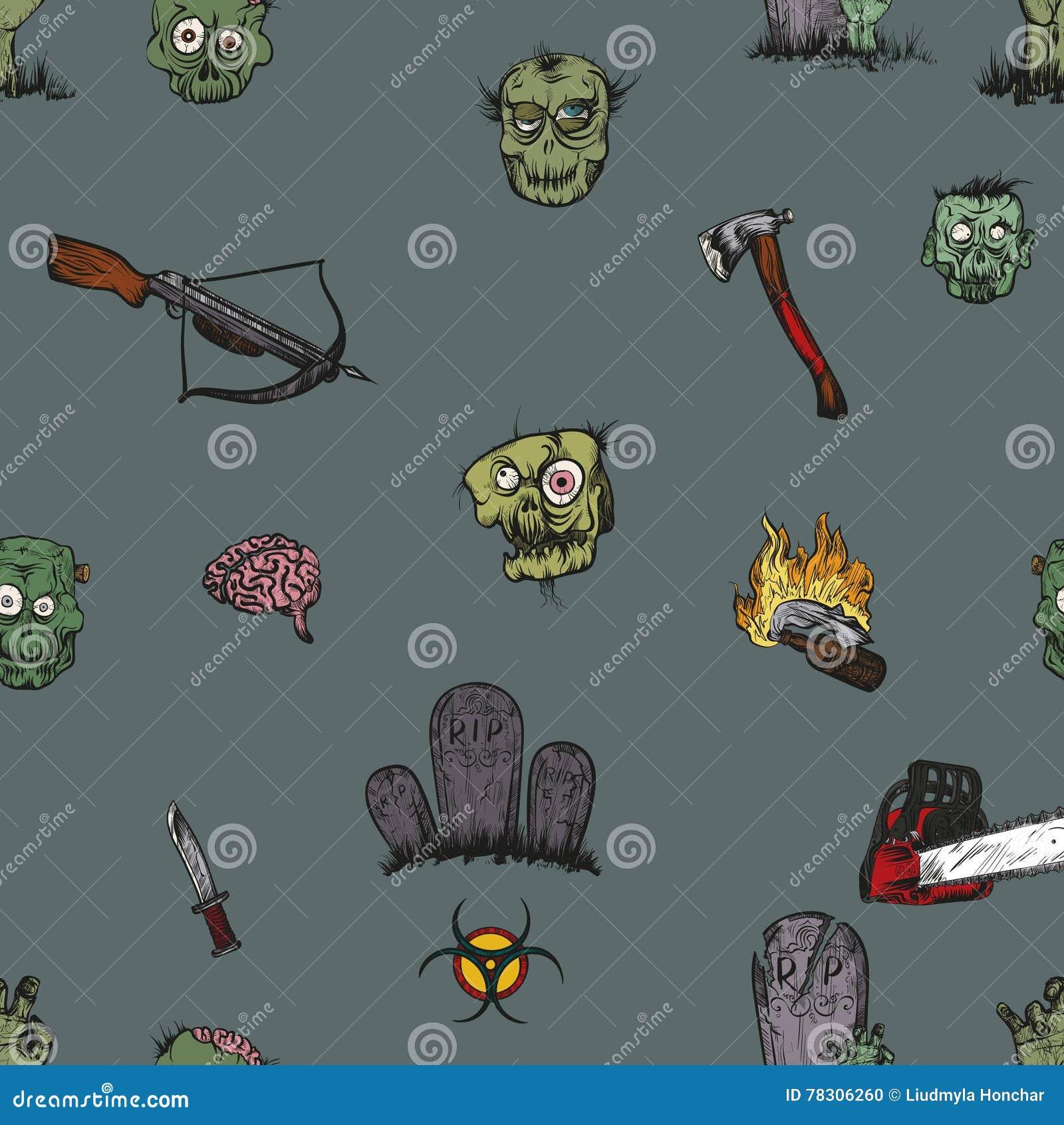 The Zombie Apocalypse Stock Vector Illustration Of Label 78306260