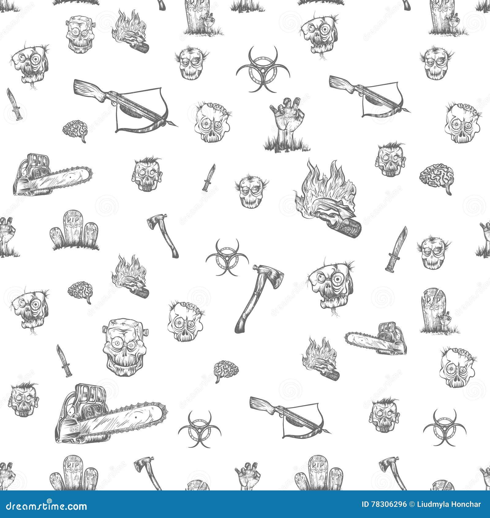 The Zombie Apocalypse Stock Vector Illustration Of Element 78306296