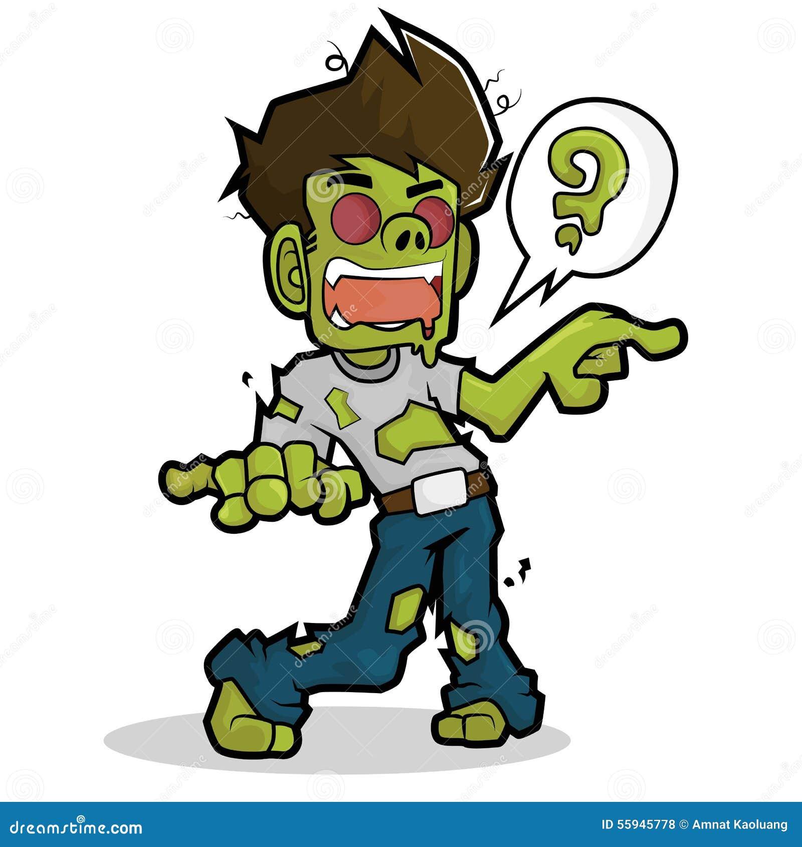 Cartoon Characters Zombies : Zombie cartoon character stock vector illustration of