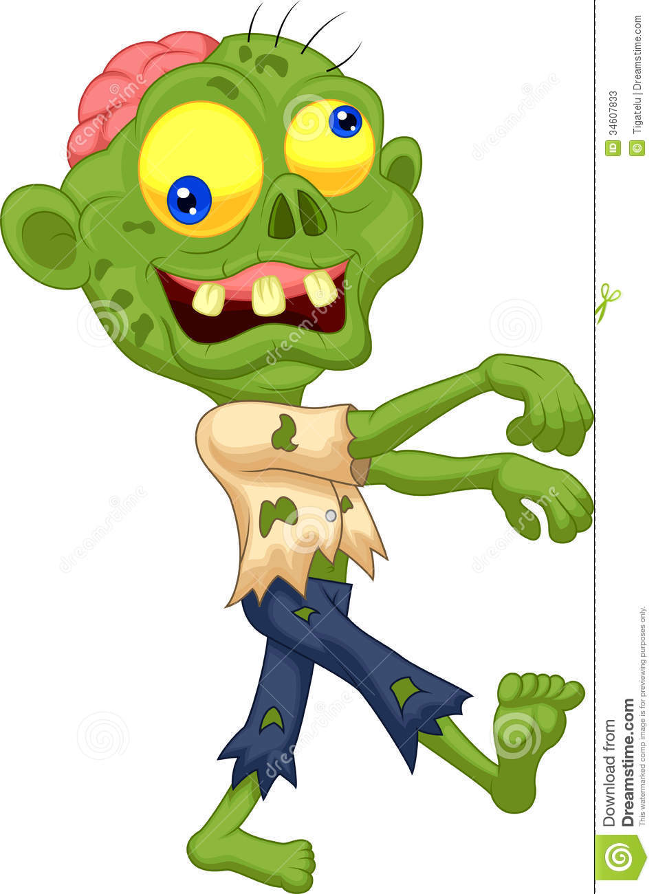 zombie cartoon stock vector illustration of dead  clip zombie clipart images zombie clip art free not colored