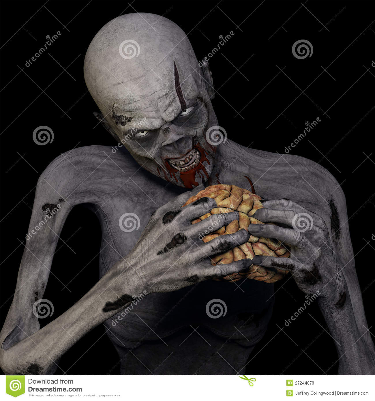 Zombie Eating Brain Royalty Free Stock Photos Image