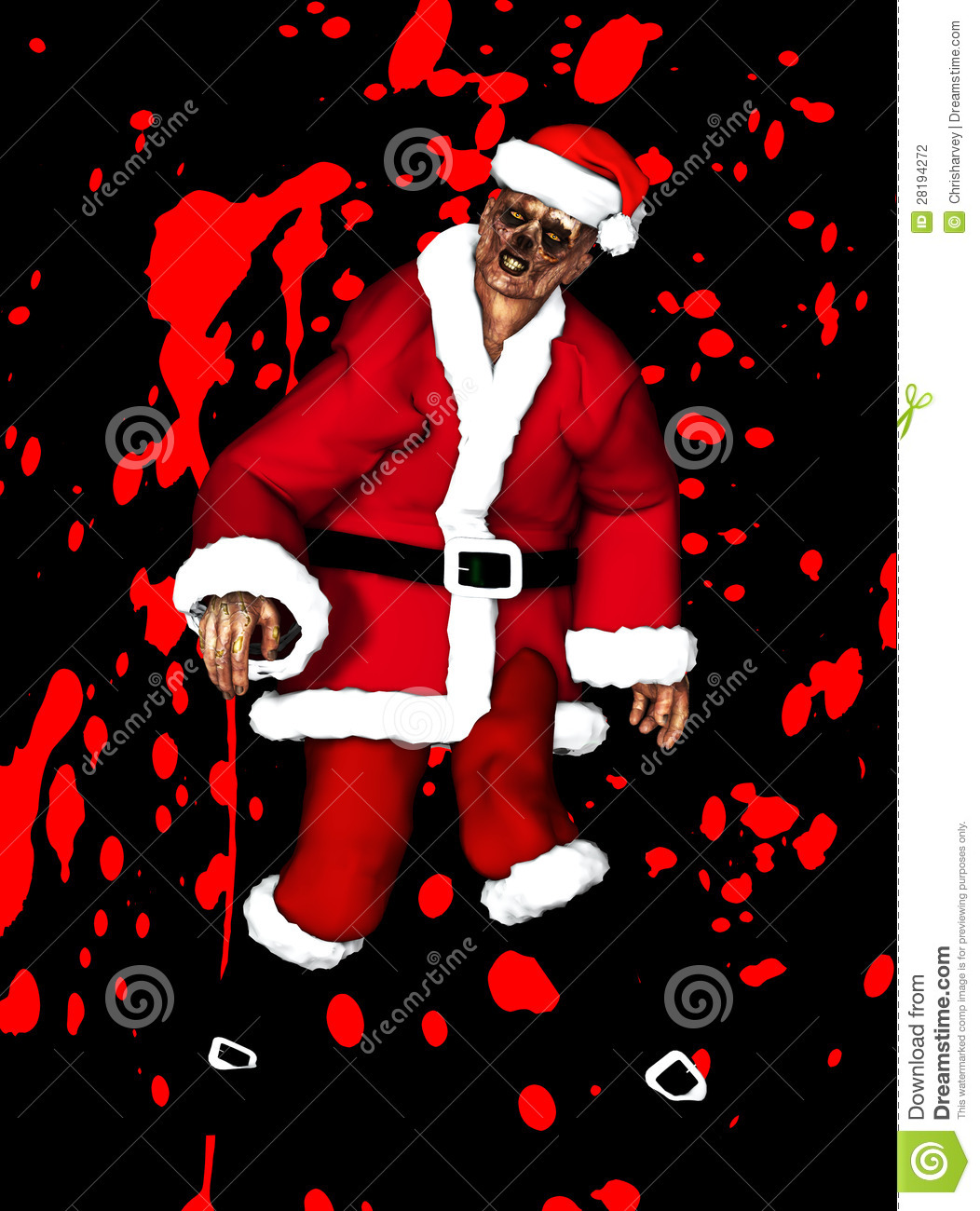 Zombie Father Christmas Stock Photography Image 28194272