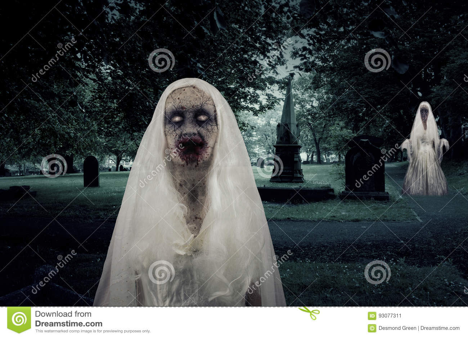 Zombie-Friedhofs-Geister