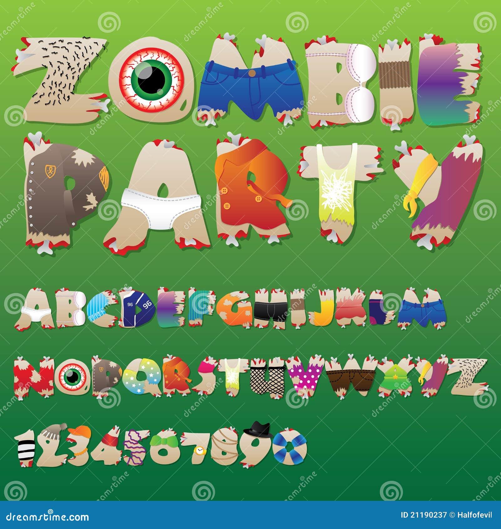 Zombie party font