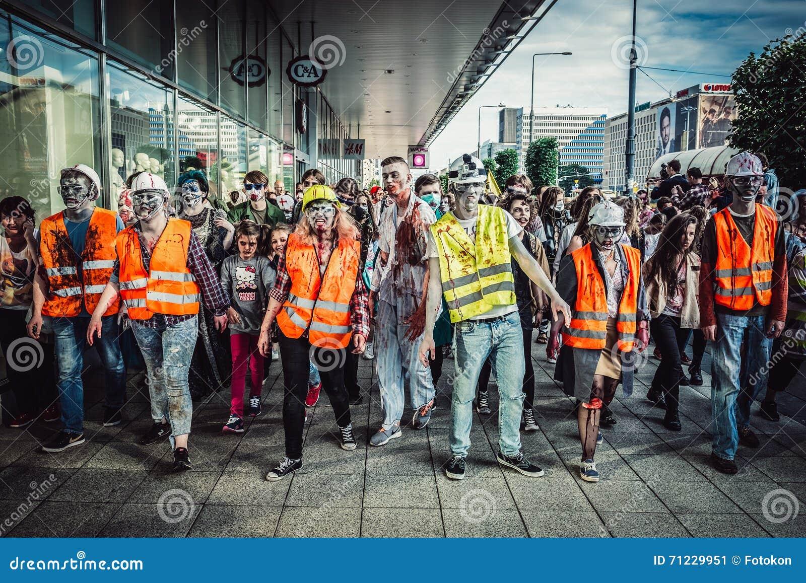 Zombie Walk in Warsaw