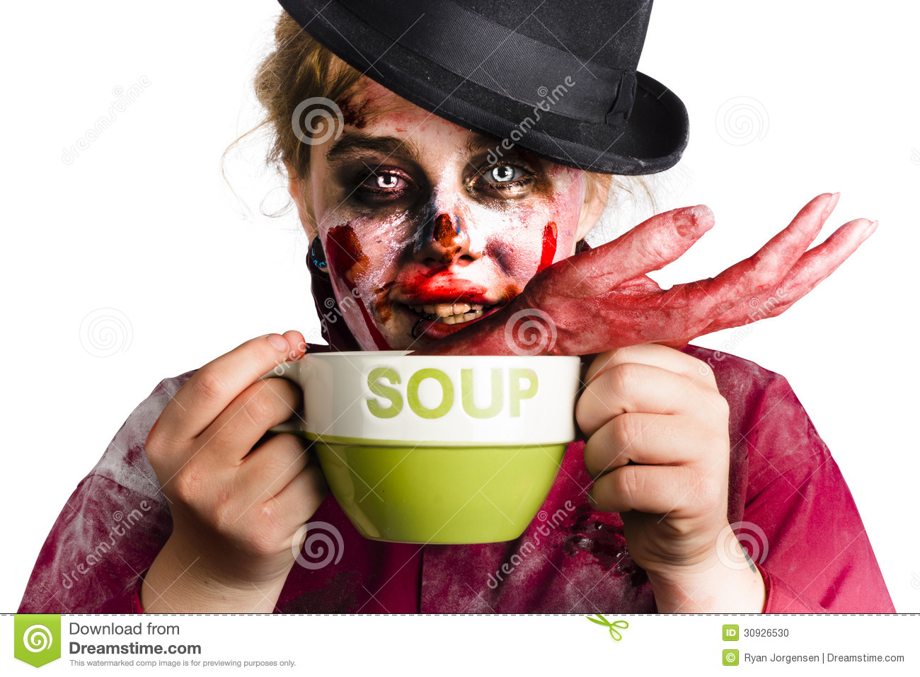 Photo Zombie woman eating Zombie Eating Human