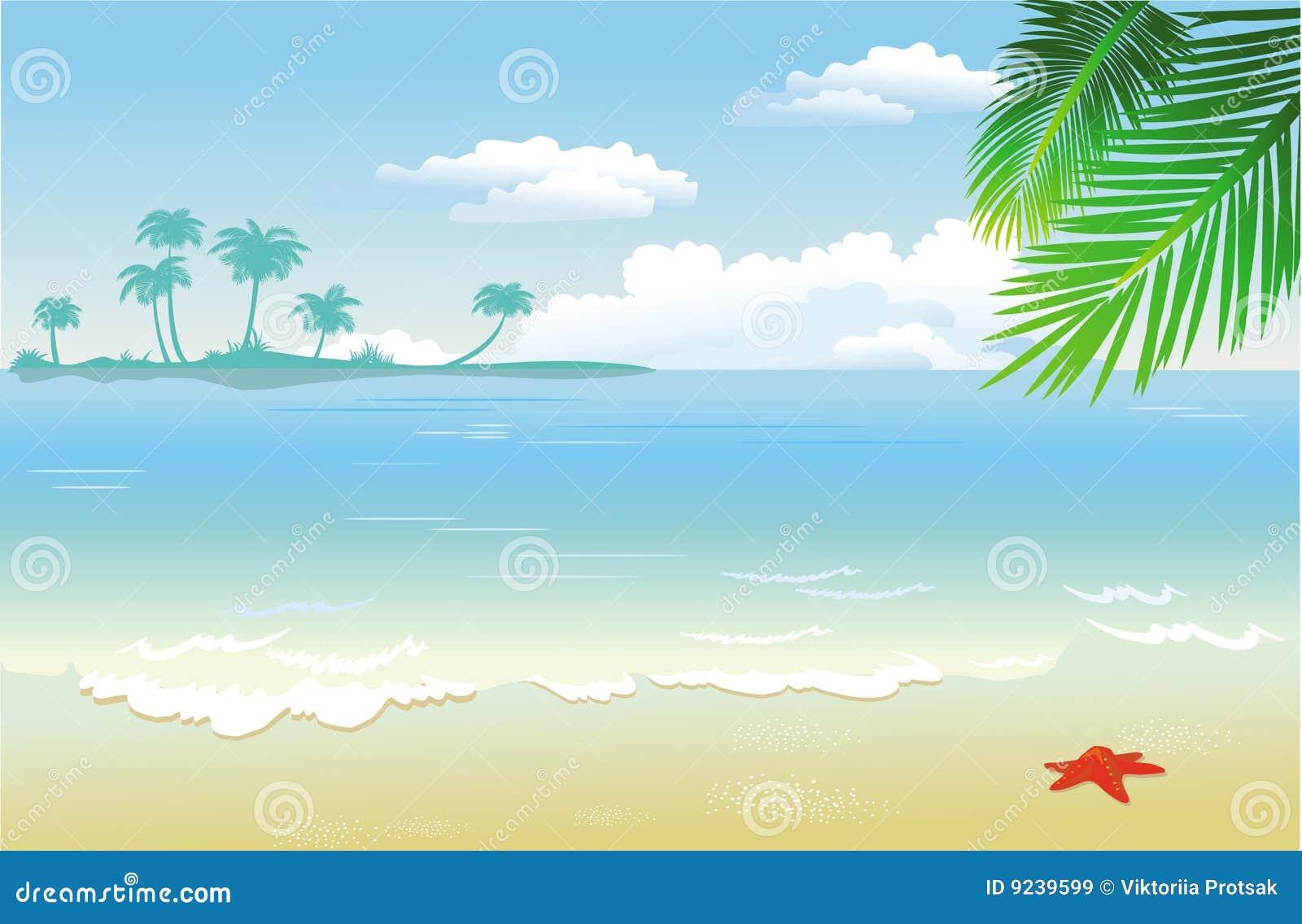 Zomer bij het strand