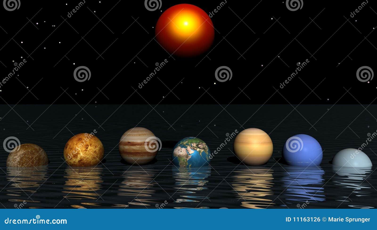 Zon en planeten stock illustratie afbeelding bestaande uit zonsondergang 11163126 for Wat zijn de koele kleuren