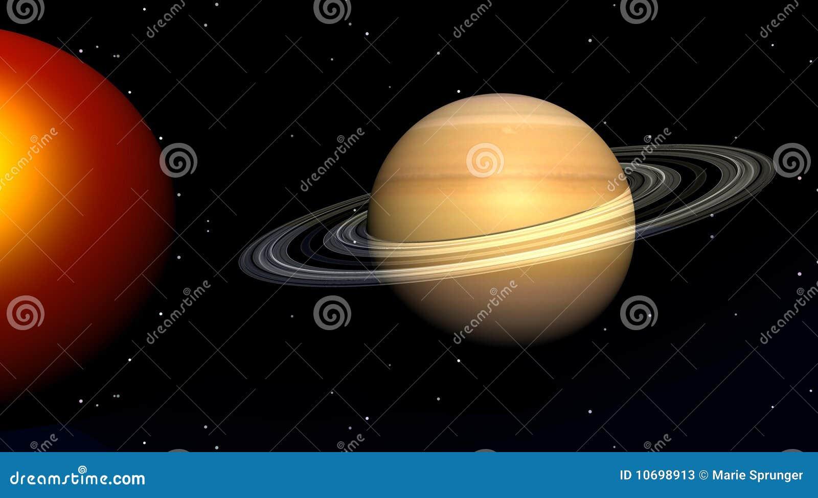 Zon en Saturnus