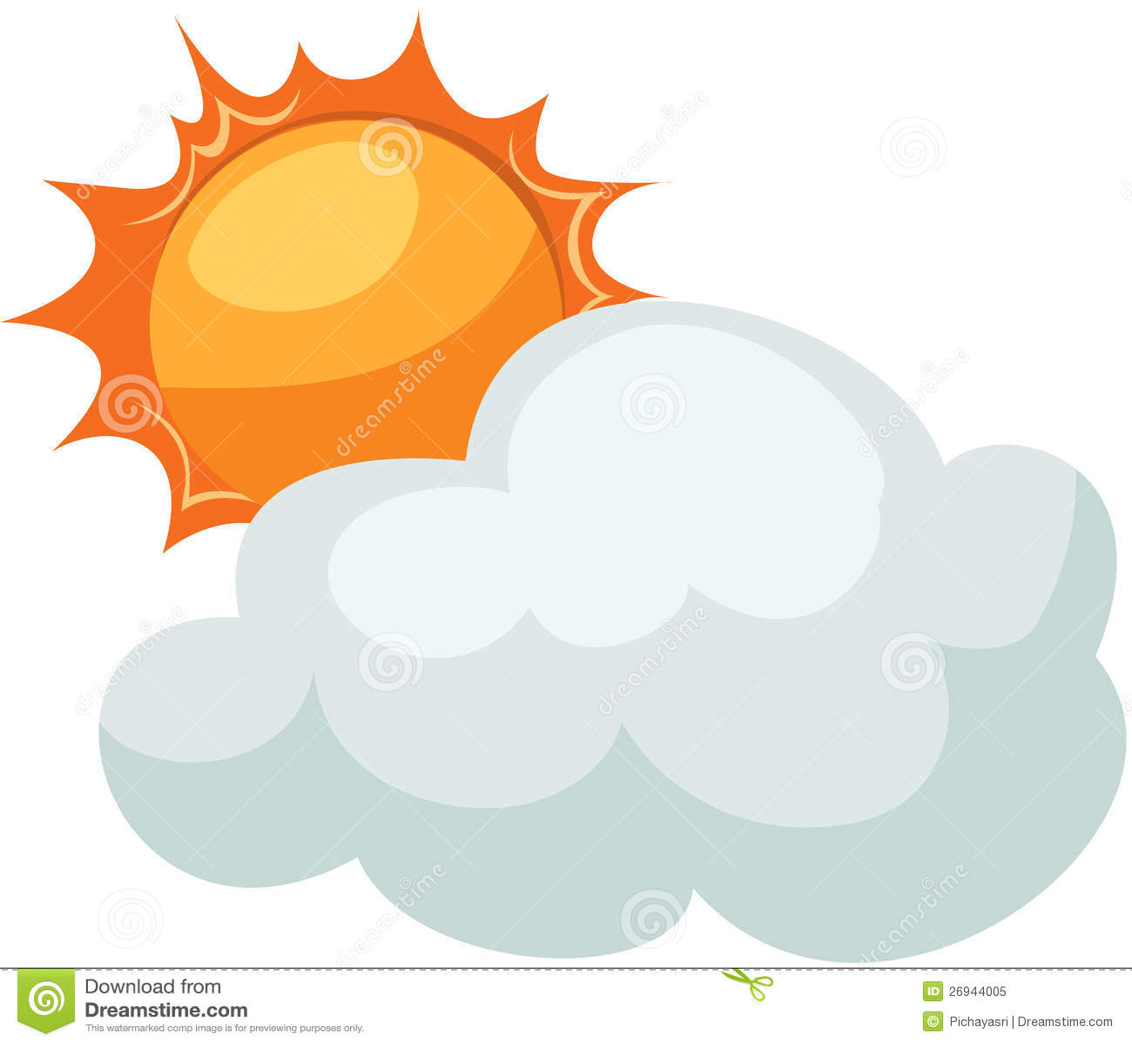 zon met wolk vector illustratie illustratie bestaande uit