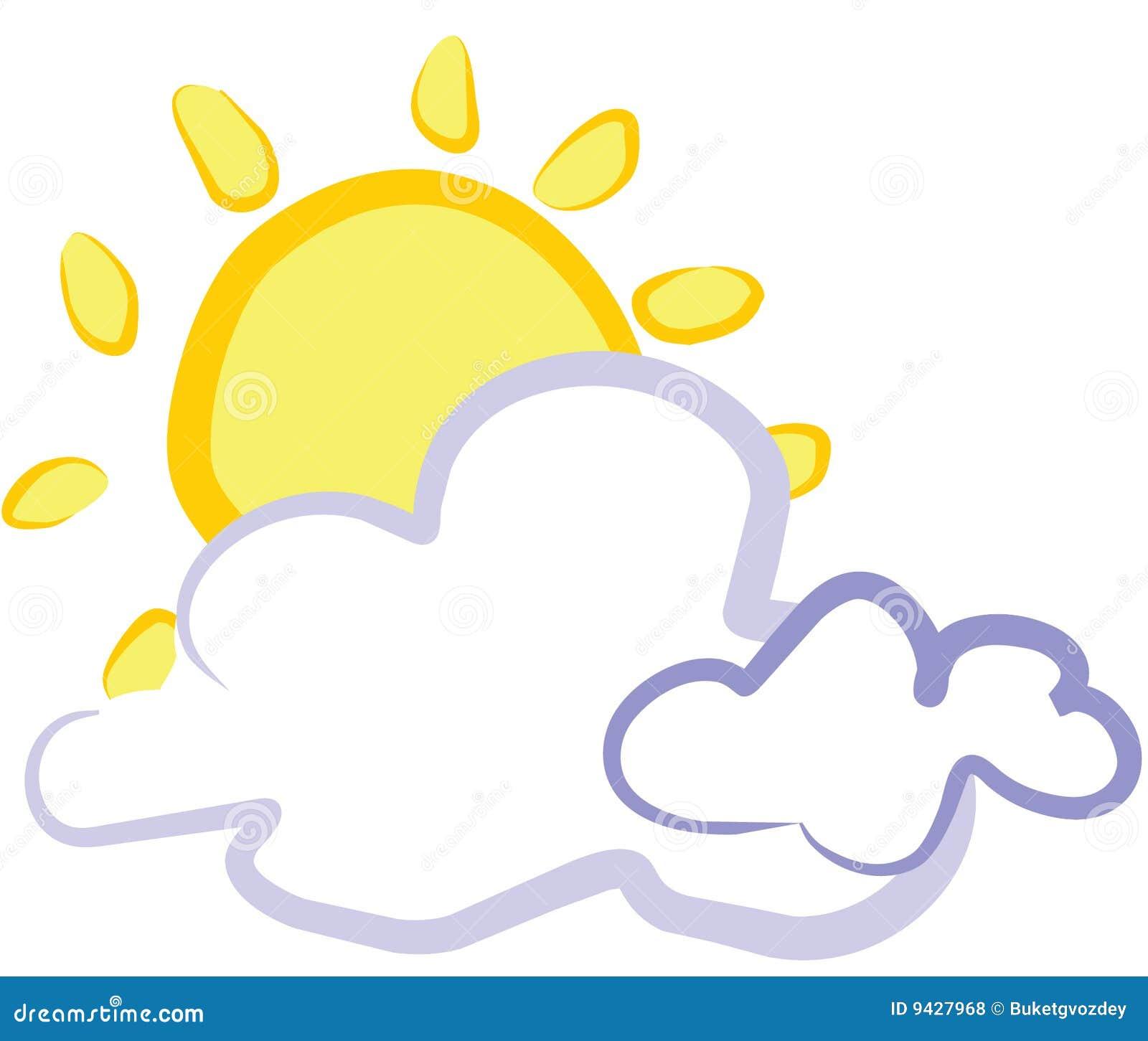 zon voor wolk royalty vrije stock foto s beeld 9427968