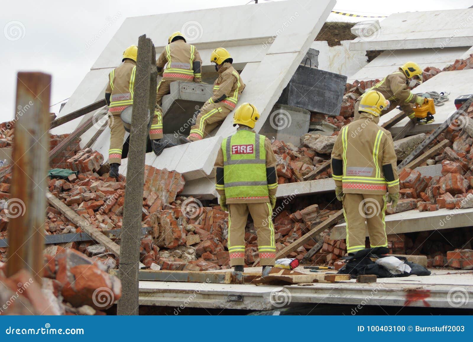 Zona da busca & de desastre do salvamento
