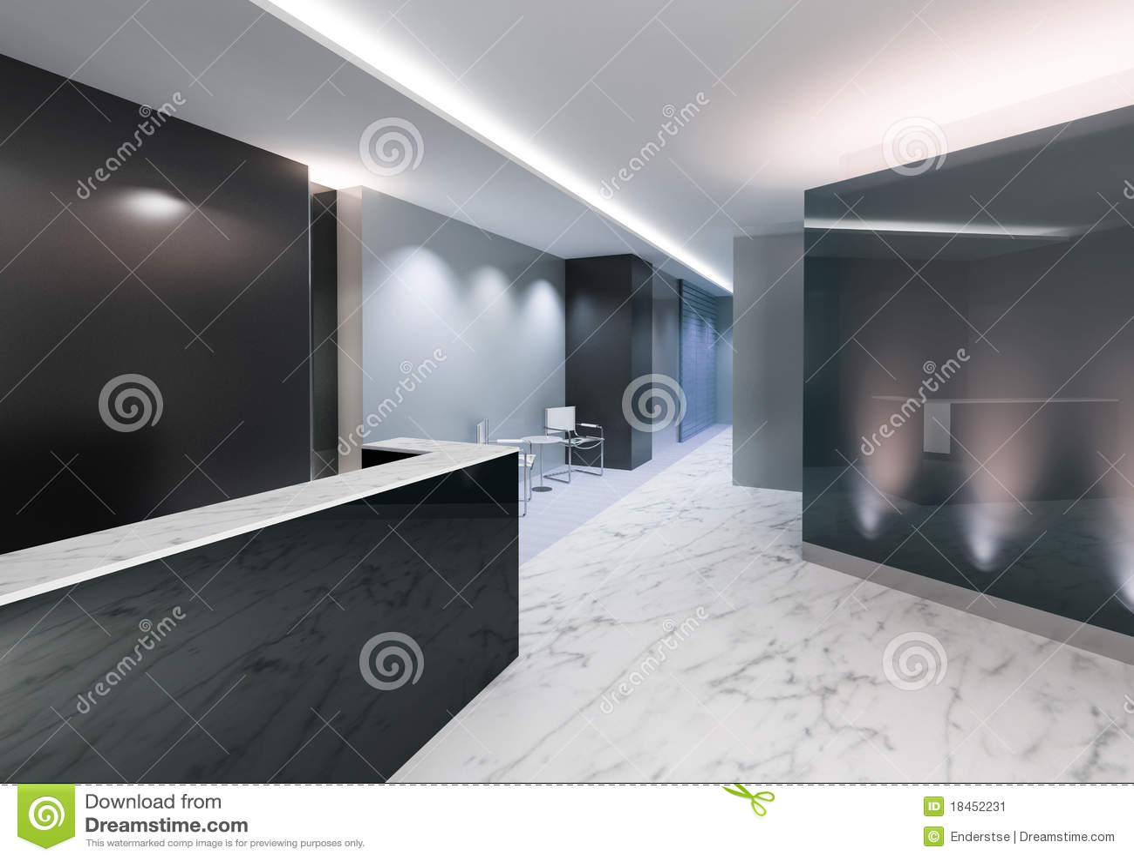 Ufficio Di Entrata : Zona dell entrata dell ufficio illustrazione di stock