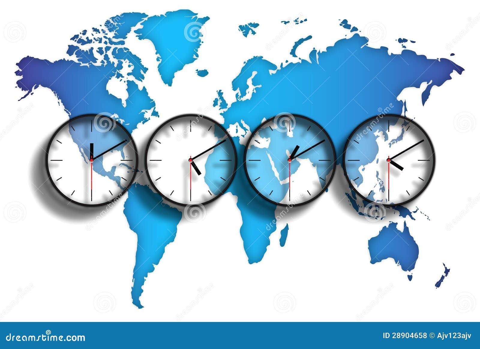 Zonas horarias del mapa del mundo