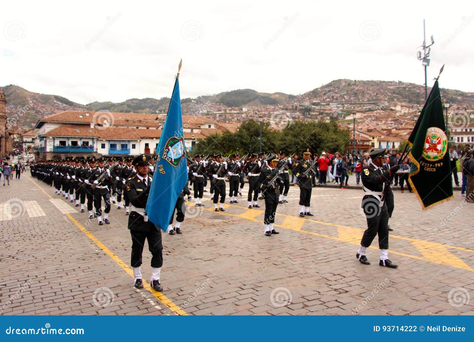 Zondag het Marcheren parade Arequipa