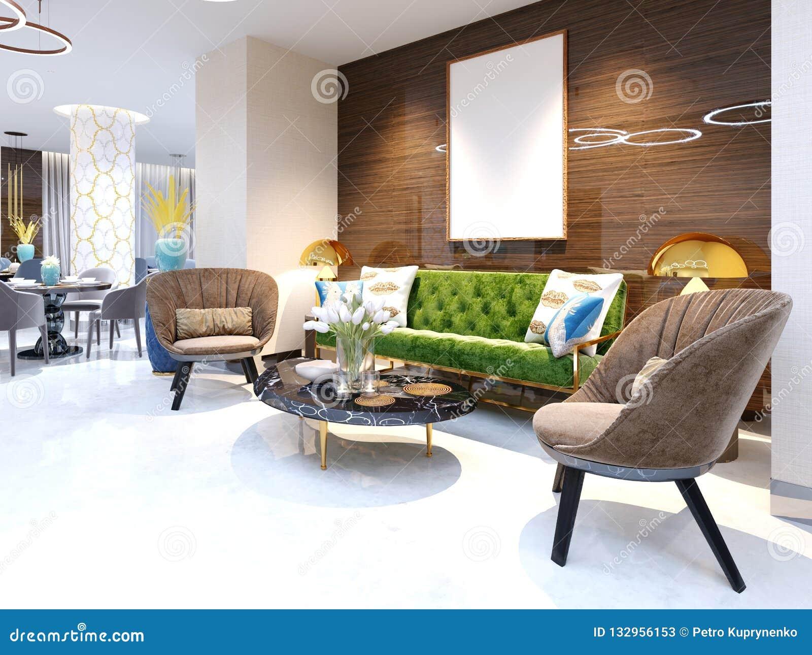 Retapisser Un Fauteuil Prix zone d'accueil et secteur de salon avec de beaux meubles