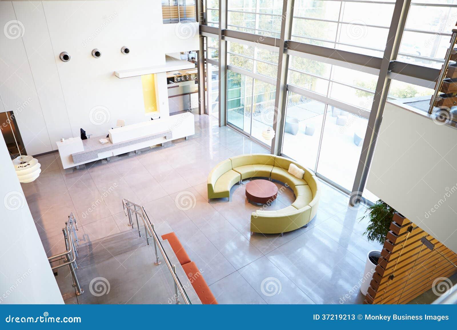 Zone d 39 accueil vide dans le bureau moderne image stock for Le bureau moderne