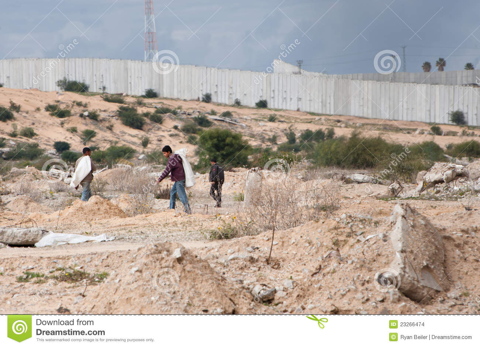 Zone de cadre de Gaza