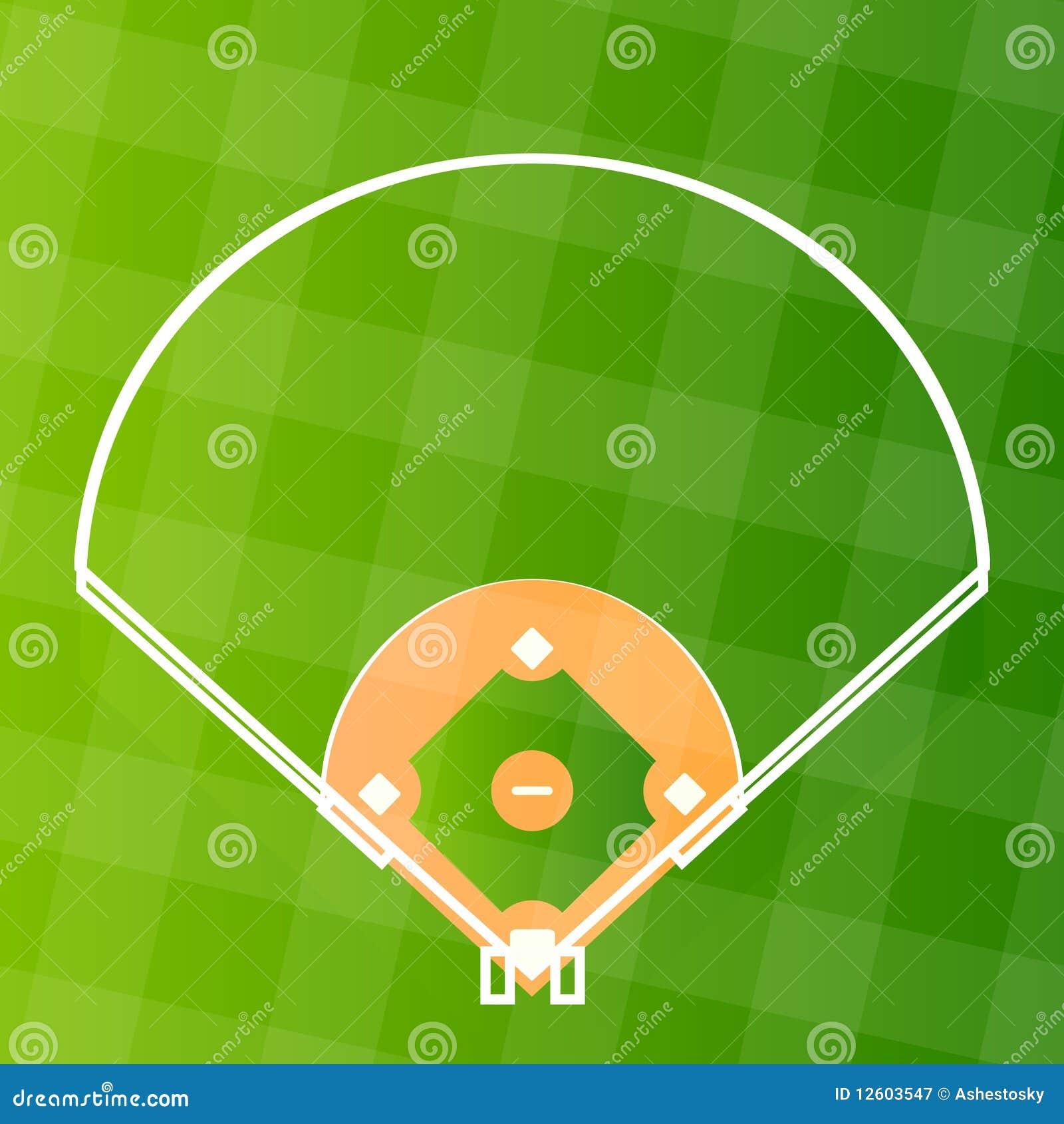 Zone de militaire de carrière de base-ball de vecteur