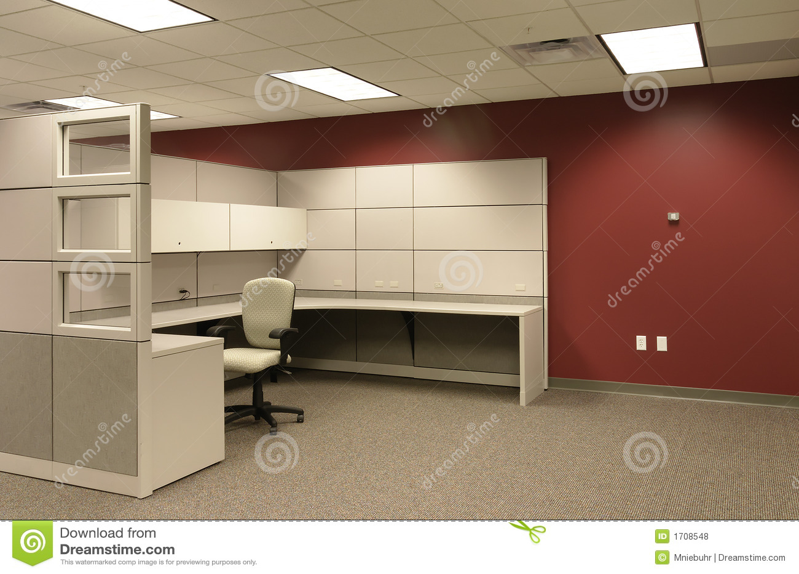 Zone de travail cubique de bureau
