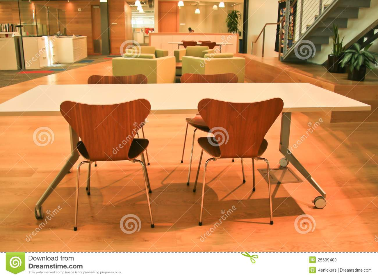 Zone moderne de conception de bureau photo stock image du