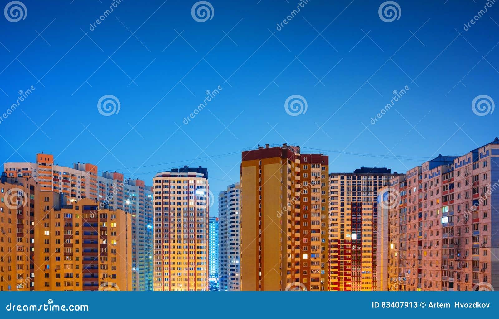 Zone residenziali alla notte, Kiev