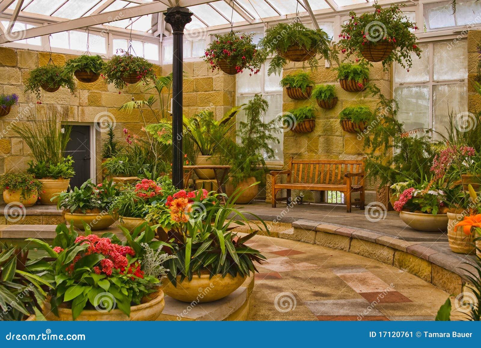 Zone sc nique de jardin d 39 int rieur image stock image for Jardin d interieur