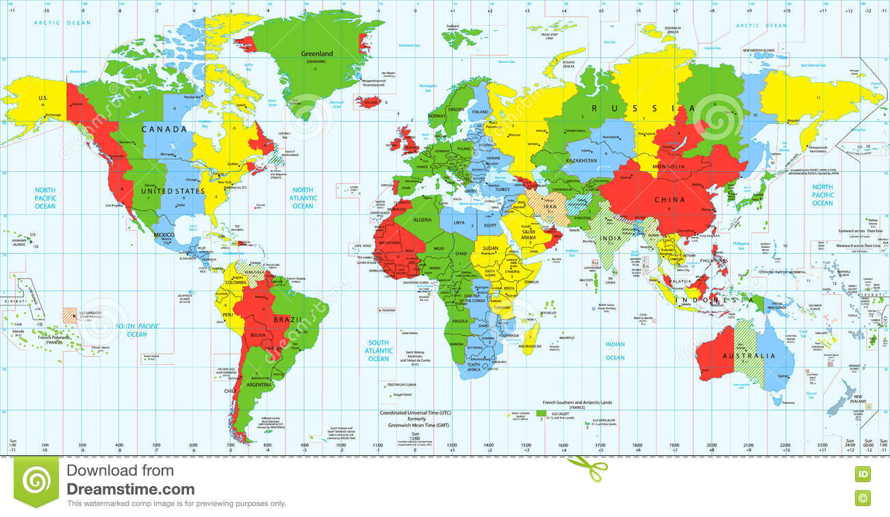 Multi Zone Clock Download SourceForgenet Current Local Time In - Detailed map usa download