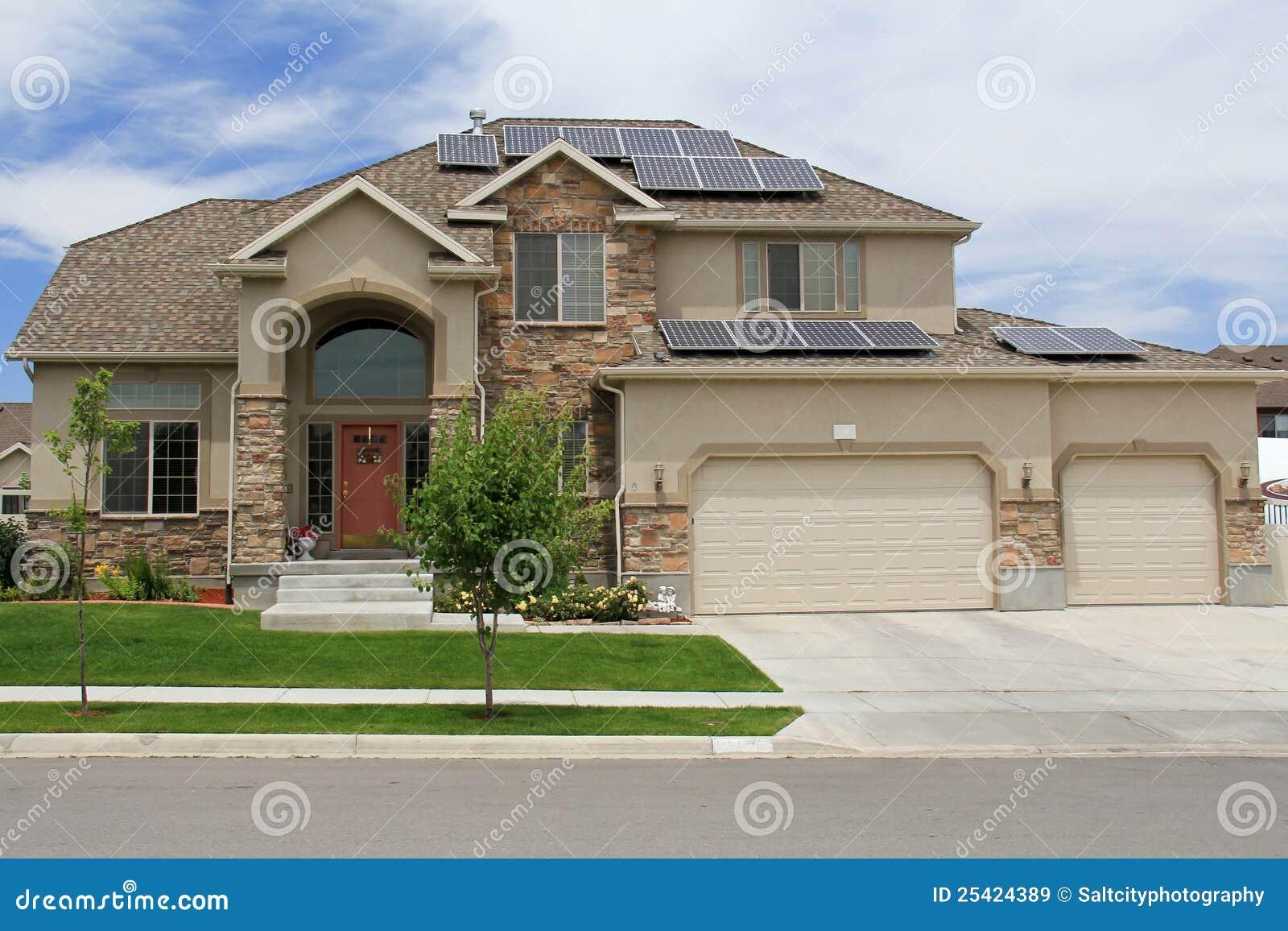 Zonne Aangedreven Huis in Utah