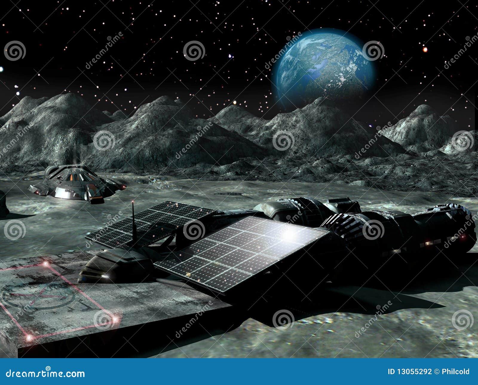 Zonne macht op de Maan