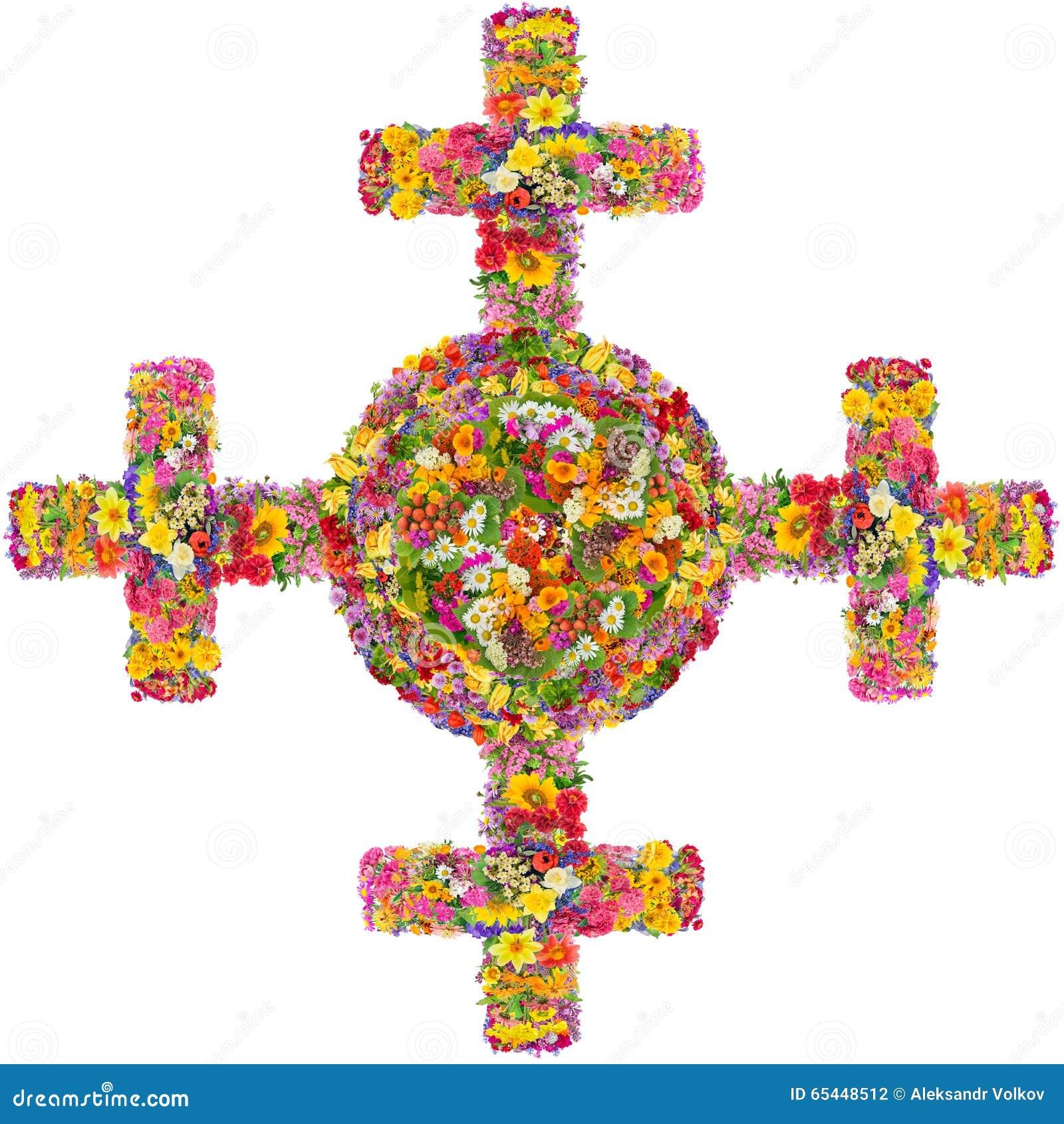 Zonne oud archaïsch Keltisch Noords kruis