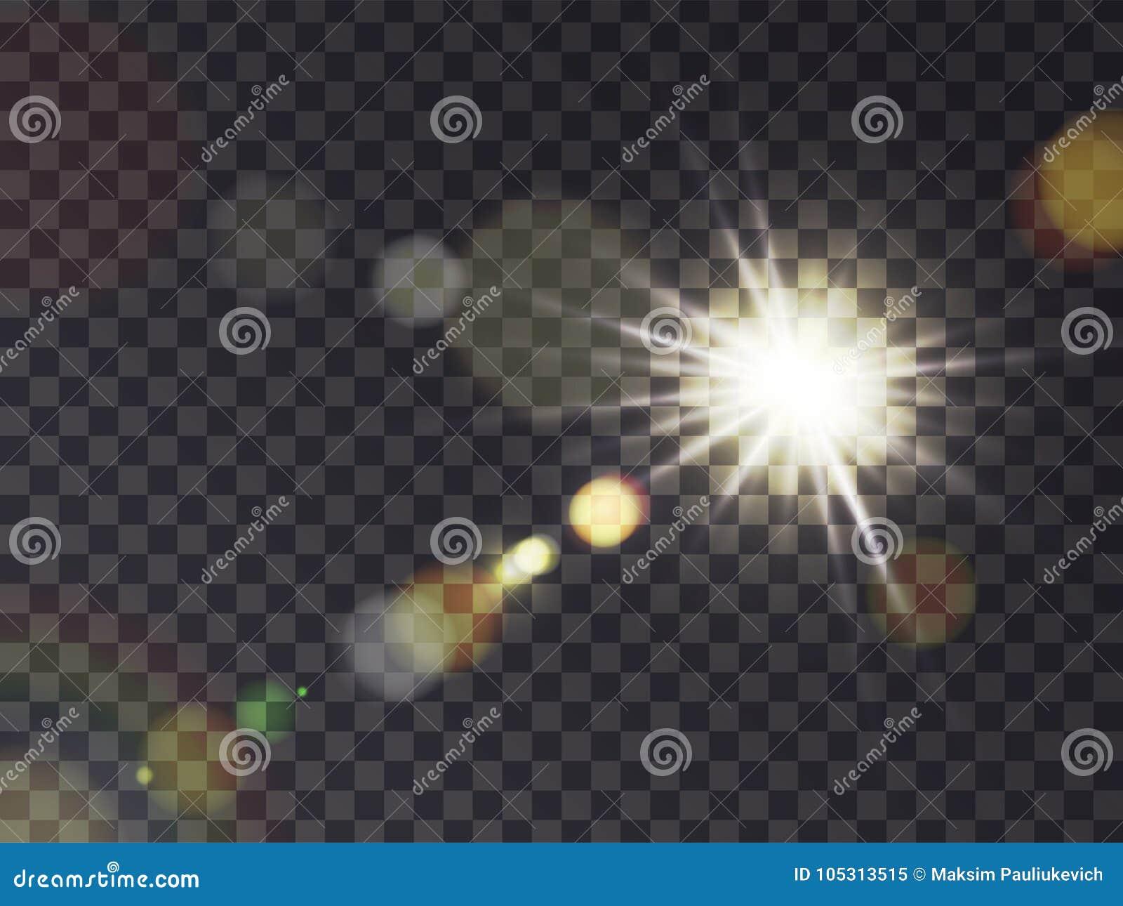 Zonneschijn met lensgloed