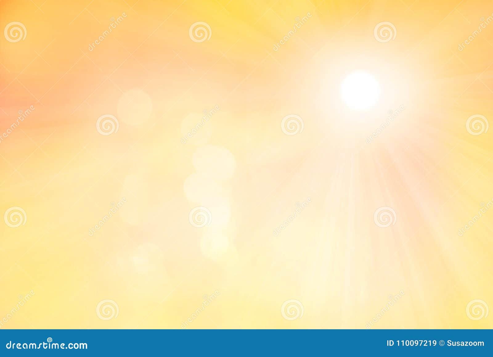 Zonnige achtergrond met gloed en zonstralen