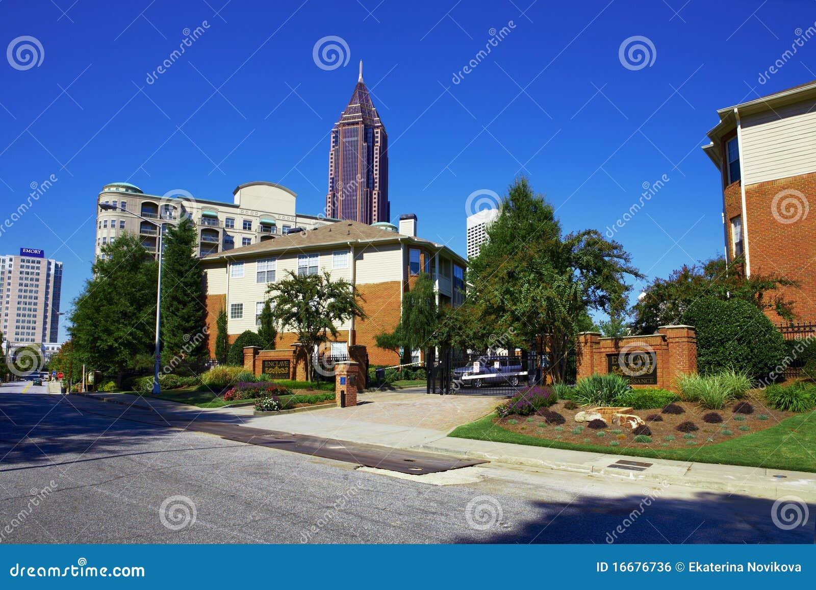 Zonnige dag in Atlanta, GA.