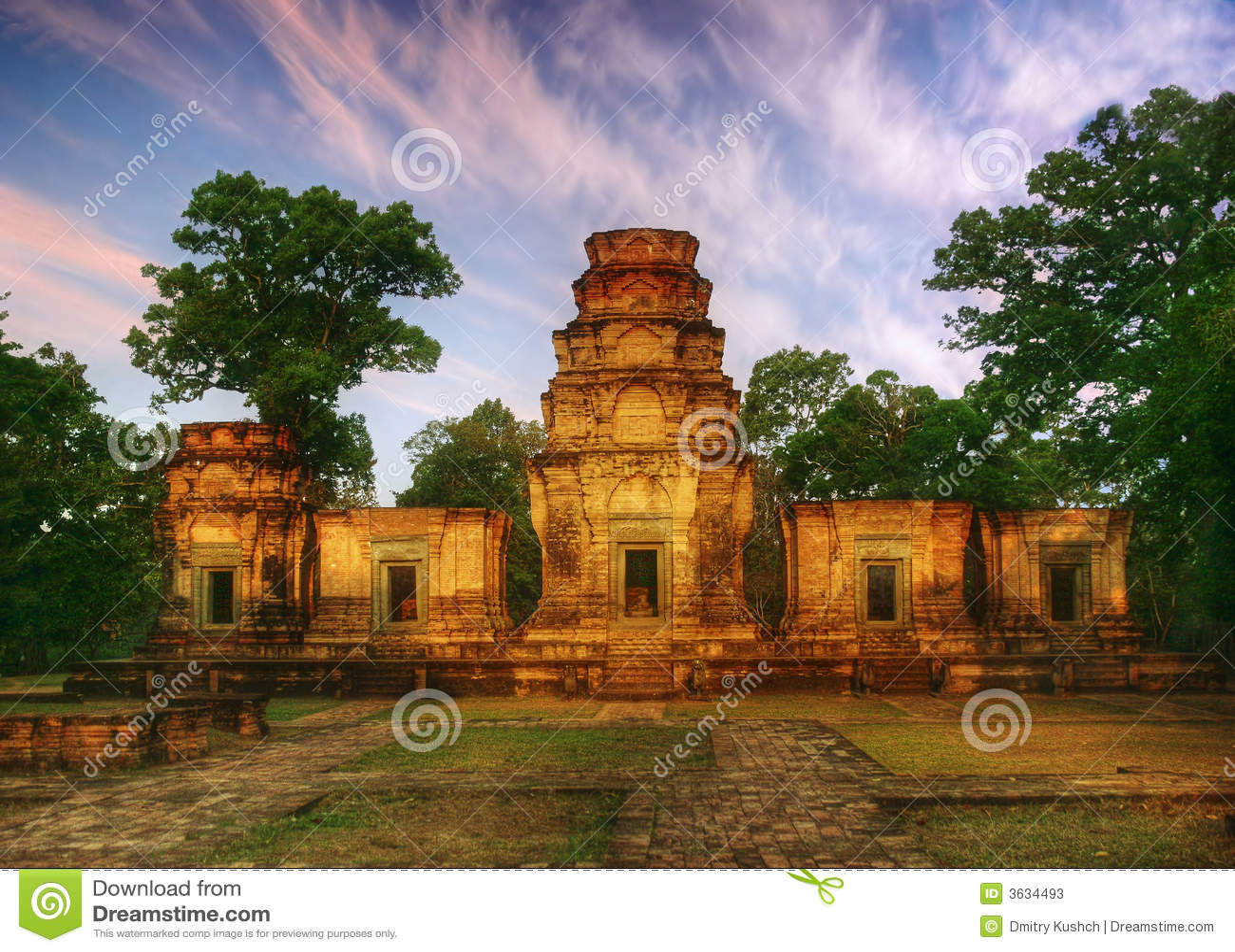Zonnige tempel
