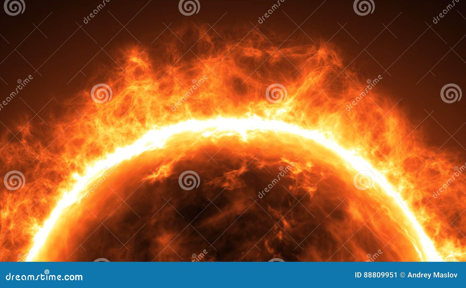 Zonoppervlakte met zonnegloed Vat wetenschappelijke achtergrond samen