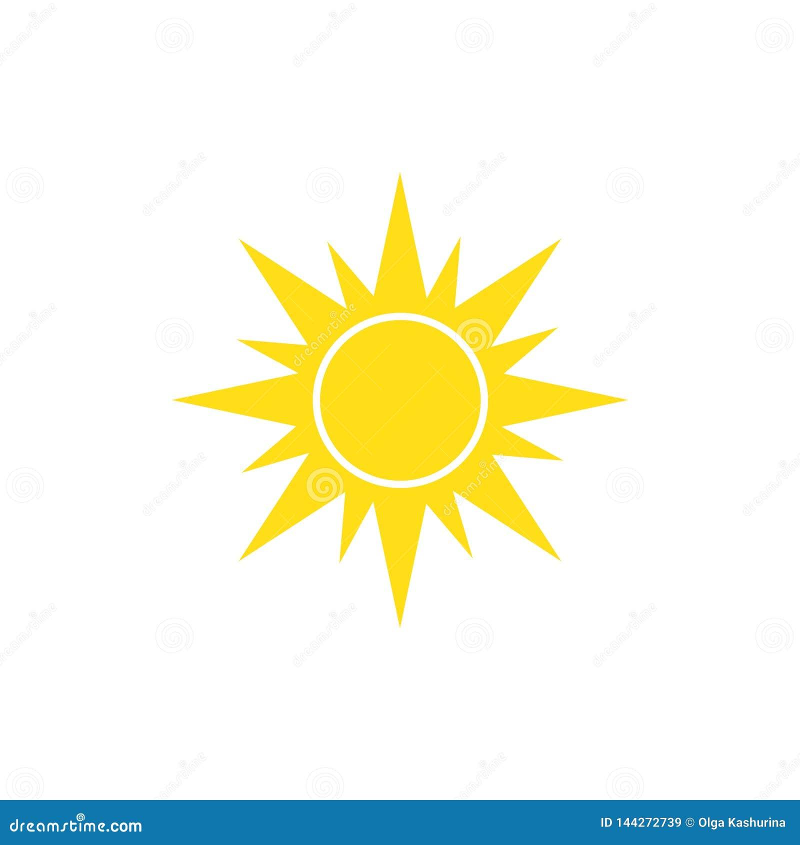 Zonpictogram op witte achtergrond voor grafisch en Webontwerp, Modern eenvoudig vectorteken Het concept van Internet
