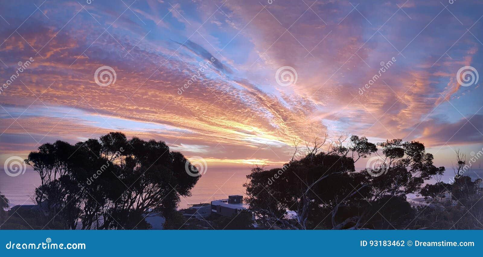 Zonsondergang Stock Foto Afbeelding Bestaande Uit Engels